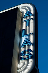 Atlas in Neon (Kevin H.) Tags: street light st marquee dc washington theater neon nw h atlas dcist