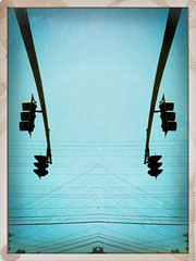 iPhoneography: 'Symmetry' (Dirk Dallas) Tags: cameraphone california ca blue light abstract art lines dallas cellphone powerlines wires dirk dirka iphone pictureshow dirkdallas iphoneography iphoneographer iphone3gs iphonographie