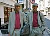 Twins in Soho (deepstoat) Tags: street portrait colour london zeiss 35mm twins soho snap similar uncanny contaxt3 identical deepstoat