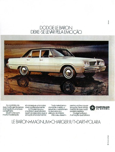 The Brazilian Dodge LeBaron was a new model for 1979 but was discontinued in