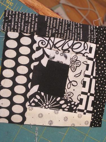 black/white block