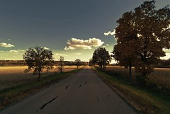 Country Roads (Doug Wallick) Tags: road sun lake green wisconsin clouds rural shadows farm country land picnik lightroom a230 explored mygearandmepremium mygearandmebronze