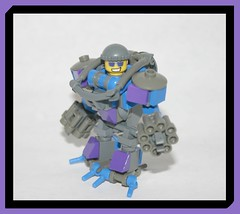 Groovy Mech (tin) Tags: robot gun power lego suit blam pew mech robo destroy gatling harsuit