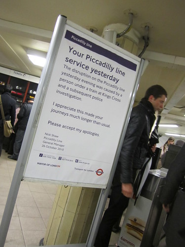 Piccadilly Line apology