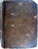 Front binding of first edition of John Donne's 'Poems' held by University of Glasgow Library Special Collections.