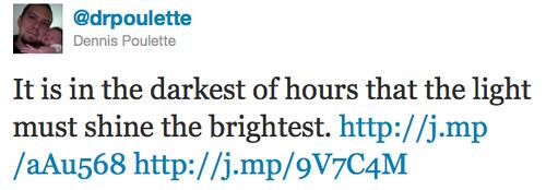 tweet on darkness
