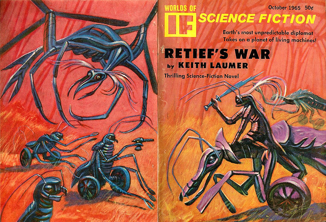 Jack Gaughan cover art - IF, Worlds Of Science Fiction, Oct, 1965