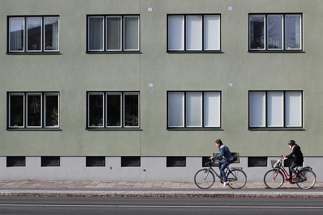 Nobelvägen, cyklar och spegel