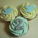 Twitter themed vanilla cupcakes