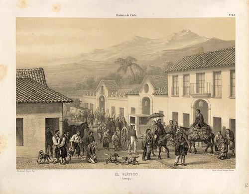 036-El Viático en Santiago-Atlas de la historia física y política de Chile-1854-Claudio Gay