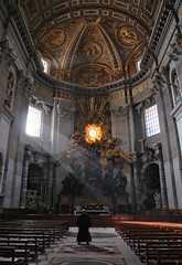 Holy Light (appow) Tags: travel light people italy vatican rome church photography italia cathedral basilica christian tuscany dome duomo dslr  2007  stpetersbasilica christianchurch  holylight      basilicasanctipetri