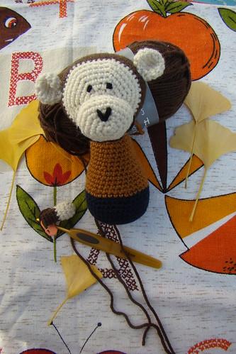 Crochet monkey wip
