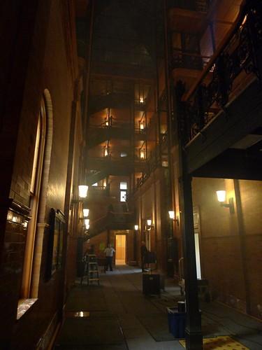 Shooting a movie at the Bradbury Building