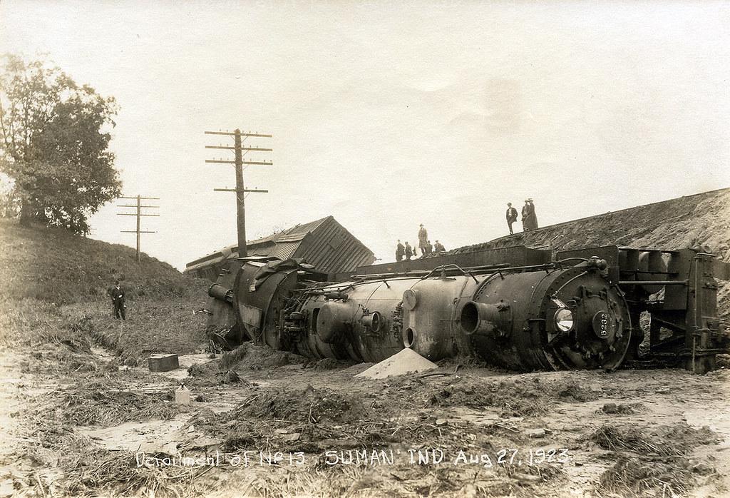 Derailment of Train No. 13, Baltimore & Ohio Railroad, August 27, 1923 - Suman, Indiana