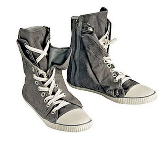 osklen fleece lace-up new cat high-tops