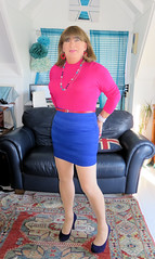 Blue Skirt (Trixy Deans) Tags: crossdresser cd cute crossdressing crossdress classy corset skirts skirt legs shortskirt shortskirts xdresser sexy sexytransvestite sexyheels sexylegs sexyblonde tgirl tv transvestite transgendered transsexual tranny trixydeans tgirls trixy