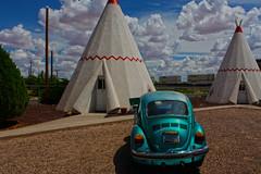 Sleep in a Wigwam (oybay©) Tags: wigwammotel holbrook arizona wigwam motel indian motif unusual car teepee volkswagen vw beetle automobile