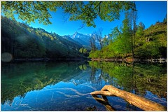 Grosser Oedsee am Morgen (Karl Glinsner) Tags: österreich austria alpen alps landschaft landscape outdoors berge gebirge mountains see lake wasser water morgen morning salzkammergut oberösterreich upperaustria