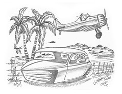 Great Wide Open (rod1691) Tags: bw scifi grey concept custom car retro space hotrod drawing pencil h2 hb original story fantasy funny tale automotive art illistration greyscale moonpies
