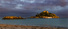 Last Light (bretton98) Tags: cornwall marazion sunset stmichaelsmount canon5dmkiii landscape water building castle sea clouds moody atmospheric davidwhitephotography bretton98
