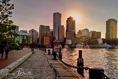 Fan Pier Sunset-1-1499305508619 (Jeremie Doucette) Tags: fanpier fanpiersunset boston bostonharbor edwardmoakleycourthouse courthouse city harbor skyline sunset park pathway