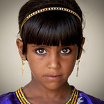 Cute bedouin girl from Ibra, Oman