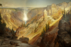 Thomas Moran - The Grand Canyon of the Yellowstone, 1901 at American Art Museum Washington DC (mbell1975) Tags: portrait usa art by museum painting smithsonian us dc washington gallery museu thomas portait grand canyon musée musee m national american yellowstone museo museums moran muzeum the müze museumuseum