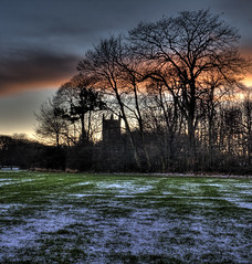 West Derby Church (Jay PH) Tags: park sunset snow church liverpool landscape lucid hdr croxtethpark cffaa westderbychurch