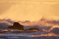 Golden Hour Seascape (Gary Grossman) Tags: ocean sunset sea seascape beautiful oregon gold golden colorful waves power dynamic pacific awesome spray goldenhour seafoam seaspray crashingwaves oswaldweststatepark goldenlight goldlight oswaldbeach ultimateshot mygearandmepremium mygearandmebronze