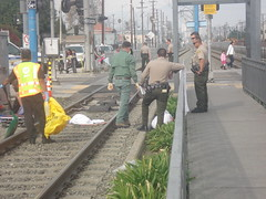 Yall wanna see a dead body!? (Asian Eater) Tags: dead losangeles blood blueline accident tracks vernon metrorail southcentral latimes hitbytrain yallwannaseeadeadbody