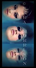The sound of silence (Sara_Morrison) Tags: blue black water girl eyes blu makeup lips freckles acqua nero bathub vasca labbra smokeyeyes occhineri