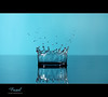 Drop Crown.. (Faisal | Photography) Tags: blue water speed photography high bravo drop explore setup splash frontpage canonef100mmf28macro canoneos50d dropcrown canonspeedlitetransmitterste2 canonspeedlite580exii faisal|photography فيصلالعلي