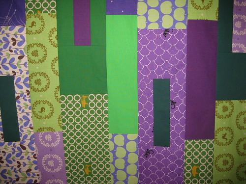 green violet quilt top done