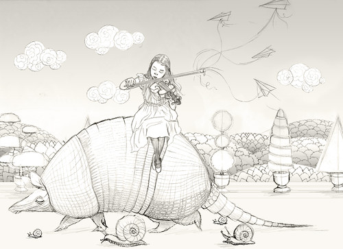 WIP - Armadillo Dream (rough sketch 5)