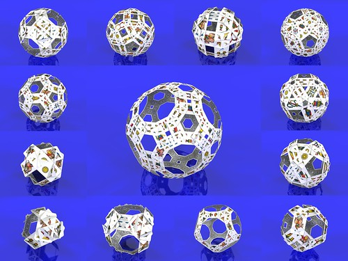 Playing cards polyhedra : following the edges of the archimedean solids