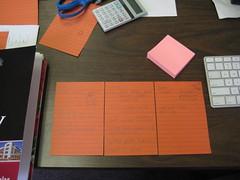 365:04  January 4, 2010 to-do lists (sara_dismukes) Tags: pink orange keyboard post desk postit it calculator scissor project36612010