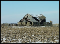 Winter In The Flatlands (MEaves) Tags: winter snow abandoned barn illinois midwest forgotten weathered decayed flatlands antiquity disrepair ruralamerica sigma70300 bej abigfave farmstructure k20d pentaxk20d pentaxart