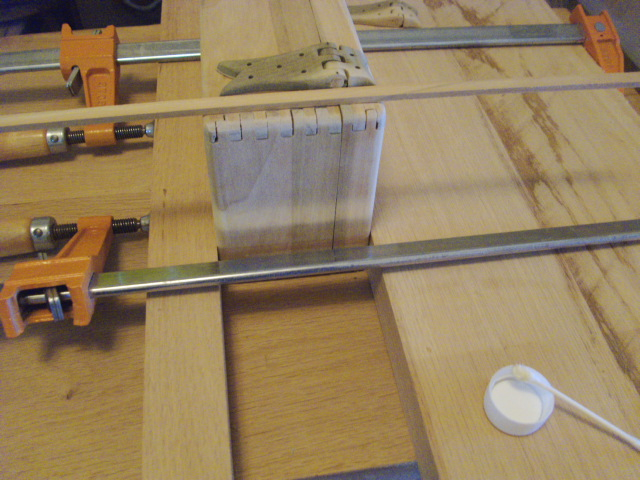 Attaching First Hinge (using spacer strip)