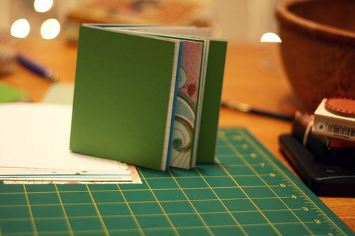 ribbon-bound blank books: assembly part one