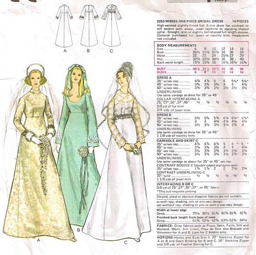 west 38th: 2 more vintage wedding dress patterns....