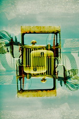 Beach Machine x2 (25ThC) Tags: camera film beach 35mm holga lomo xpro lomography exposure fuji doubleexposure crossprocess double 400 eastbourne british analogue fujisensia fujisensia400 135bc holga135bc 25thc