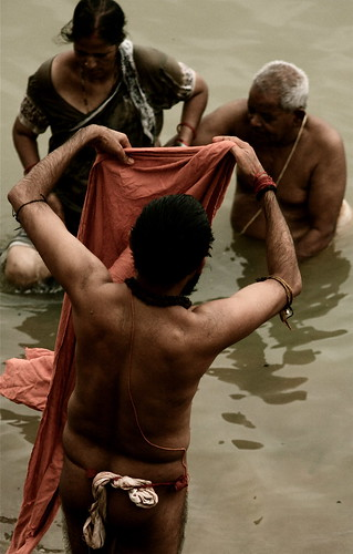 Morning At The Ganga, India