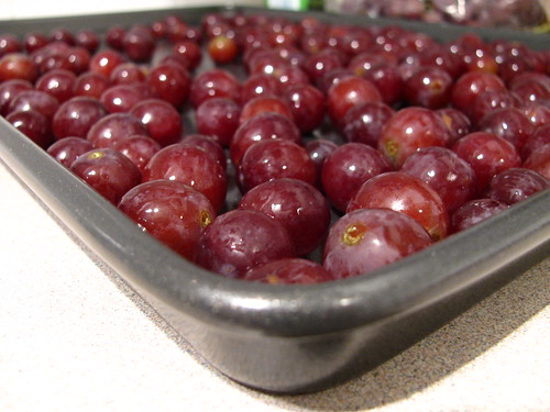 Grapes, ready for roasting