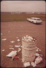 """Viewing"" Site for Visitors at Portland Airport - And the View They Leave behind Them 05/1973 (The U.S. National Archives) Tags: airplane aircraft aviation con"