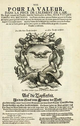 010- Divisa del tapiz el aire para el valor-Tapisseries du roy, ou sont representez les quatre elemens 1690- Sebastien Le Clerc