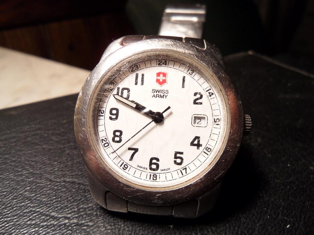 Well-worn Swiss Army Watch