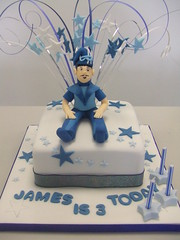 CAKE Sportacus (CAKE Chester) Tags: birthday blue party 3 cake stars tv celebration chester fitness sportacus