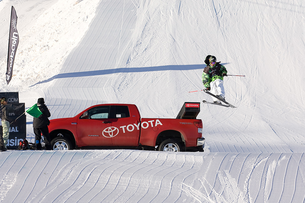 Jossi Wells goes Toyota Truck surfin'
