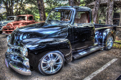 Black 1950's Chevrolet Truck (-Veyron-) Tags: canon costarica looking great hdr 500d tonemapping t1i canont1i