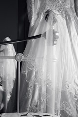 It's almost time... (Boudica_) Tags: life wedding bw white black tiara reflection love canon lens hearts 50mm mono bride beads still bed veil dress lace details silk pearls lincolnshire lincoln stitching gown bridal brass preparations intricate mirroe bedstead sleaford